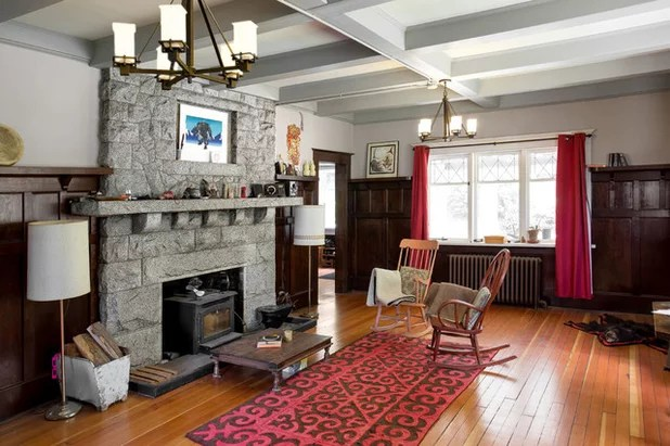 Craftsman Living Room by David Coulson Design Ltd.