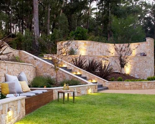 Backyard Retaining Wall Ideas Home Design Ideas, Pictures ... on Backyard Wall Decor Ideas id=15993
