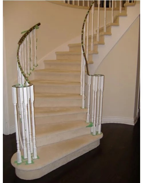 Hardwood Stairs With No Runners | No Carpet On Stairs | Stair Case | Wood | Non Slip | Prefinished Stair | Hardwood