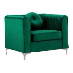 Isabelle Green Velvet Chair