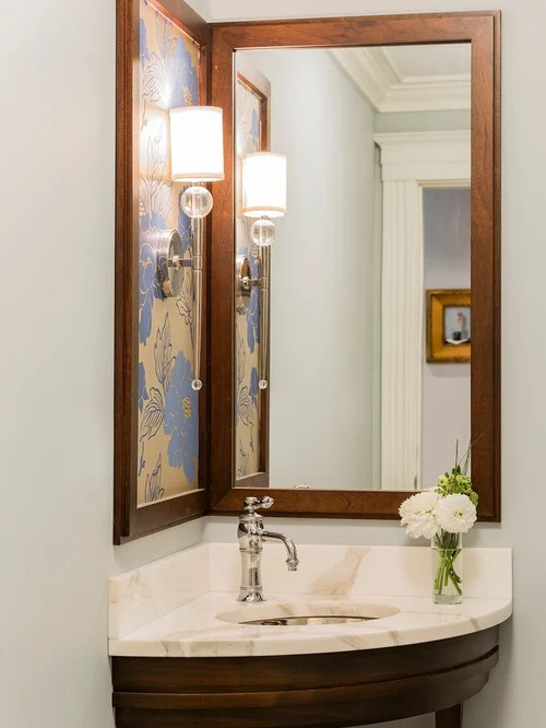 corner sink and mirror ideas & photos | houzz