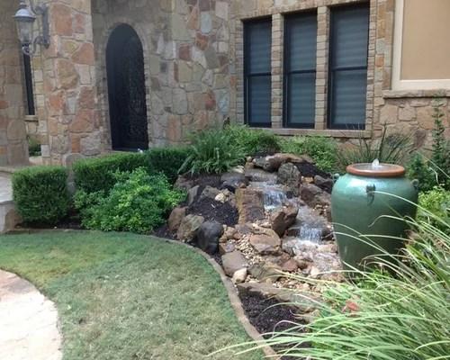 Best Front Yard Waterfall Design Ideas & Remodel Pictures ... on Front Yard Waterfall Ideas id=45628