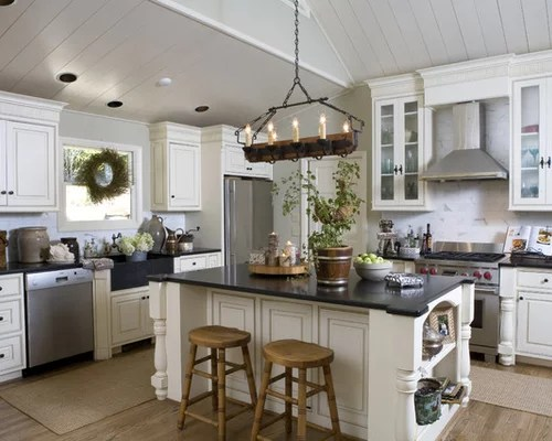 Log Cabin Rustic Kitchen Island Decorating Ideas Photo Extraordinary