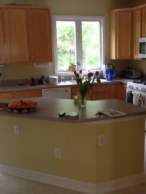 What color countertops and appliances for these Maple ... on Countertop Colors For Maple Cabinets  id=13165