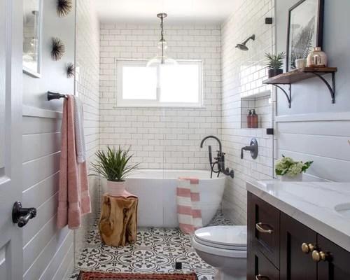 25 Best Farmhouse Bathroom Ideas, Designs & Remodeling ... on Farmhouse Tile Bathroom Floor  id=90339