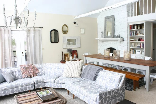 Farmhouse Living Room by Rebekah Zaveloff | KitchenLab
