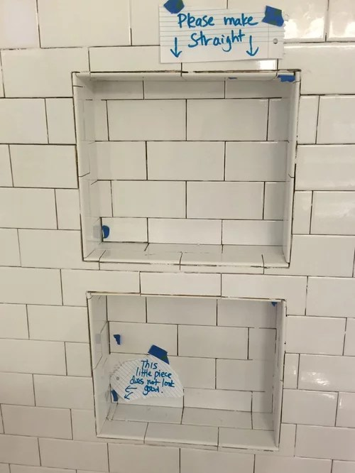 is this how subway tiles are supposed