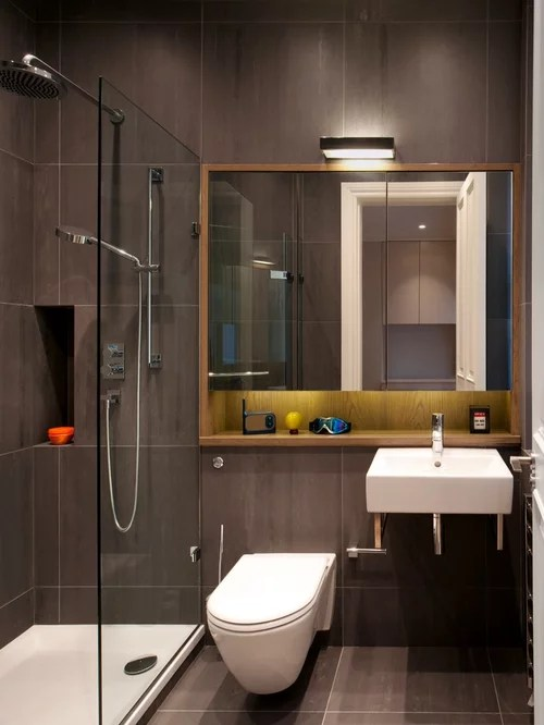 Small Bathroom Design Ideas, Remodels & Photos on Contemporary Small Bathroom Ideas  id=45475