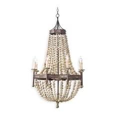 Regina Andrew Design Wood Beaded Chandelier Chandeliers