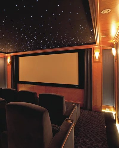 Traditional Home Theater by Mayta & Jensen