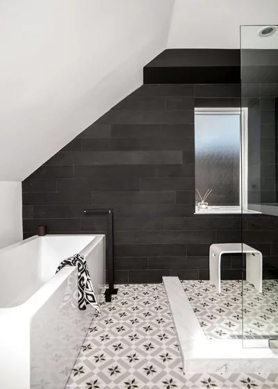 Transitional Bathroom by Shirley Meisels