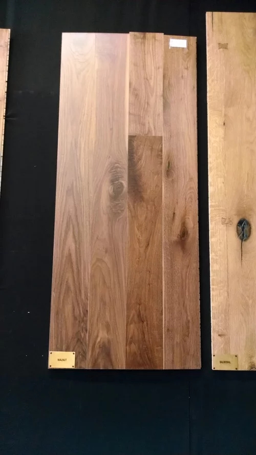 How To Match Stair Treads To Prefinished Engineered Walnut Floors | Prefab Oak Stair Treads | Hardwood Flooring | Wood Flooring | Wood Stair | Solid Oak | Risers