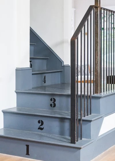 Transitional Staircase by Spang Builders, Inc.