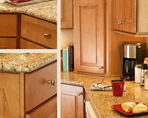 Granite Countertops Maple Cabinets | Houzz on Kitchen Countertops With Maple Cabinets  id=76462