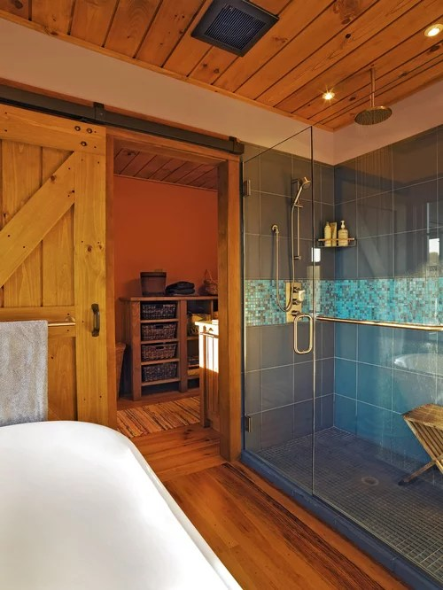 Barn Door Shower Home Design Ideas Pictures Remodel And