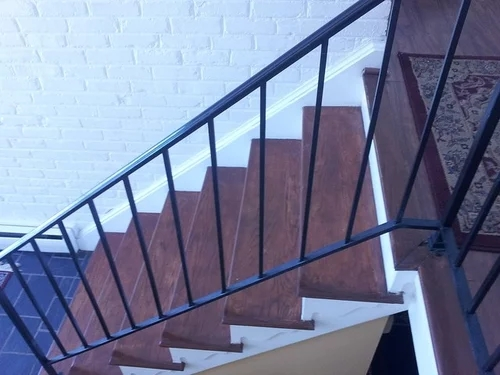 Suggestions To Update Wrought Iron Stair Railing Without Replacing | Wrought Iron Handrail For Steps | Aluminum | Simple | Front Door Step | Forged Iron | Custom