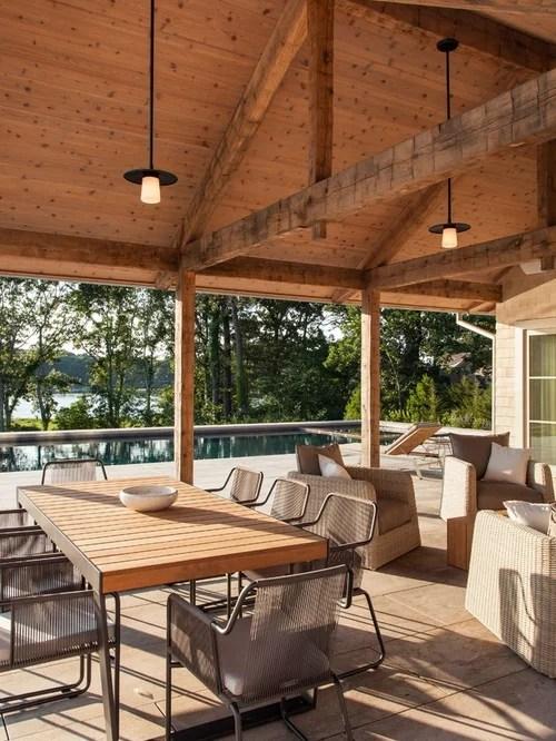 Farmhouse Patio Design Ideas, Remodels & Photos | Houzz on Farmhouse Yard Ideas id=84661
