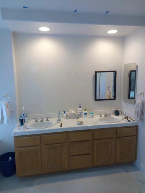 need master vanity lighting suggestions