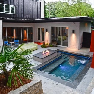 75 Beautiful Modern Outdoor Fountain Design Pictures ... on Modern Backyard Ideas With Pool id=59026