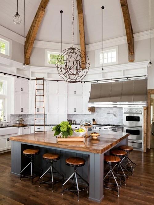 Best 25 Farmhouse U-Shaped Kitchen Ideas & Photos   Houzz on Rustic:yucvisfte_S= Farmhouse Kitchen Ideas  id=92975