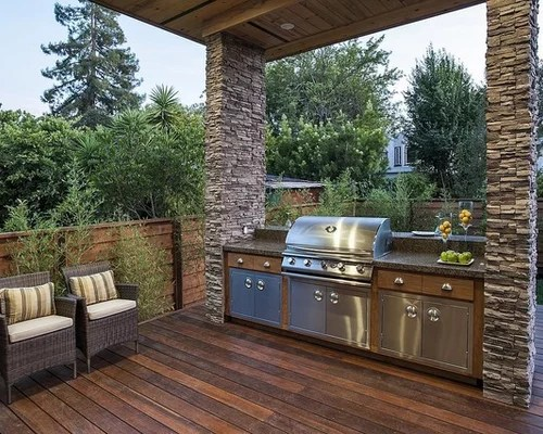 Covered Barbeque Grill Area Ideas, Pictures, Remodel and Decor on Patio Grilling Area  id=15316