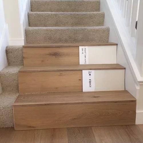 Stairs Hardwood Or Painted Risers | Modern Stair Treads And Risers | Hardwood | Non Slip | Riser Short Stringer | Cap | Luxury Vinyl Stair