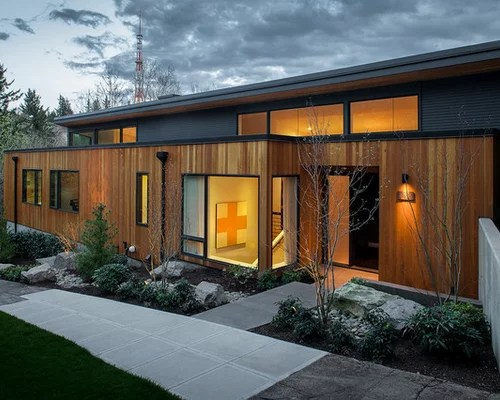 Vertical Wood Siding Home Design Ideas, Pictures, Remodel ... on Modern Siding Ideas  id=60310
