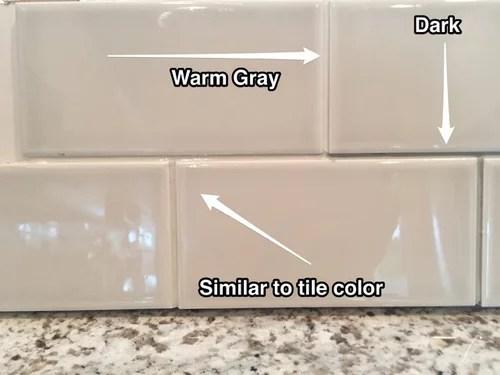 backsplash tile grout color
