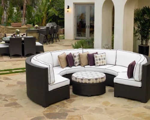 curved outdoor sectional patio furniture Curved Outdoor Sofa Sectional