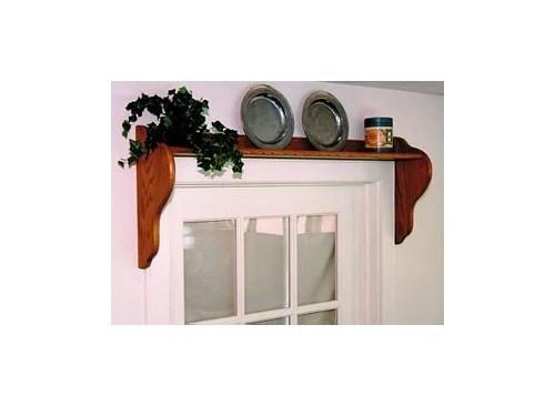 over the window shelf w curtain rod