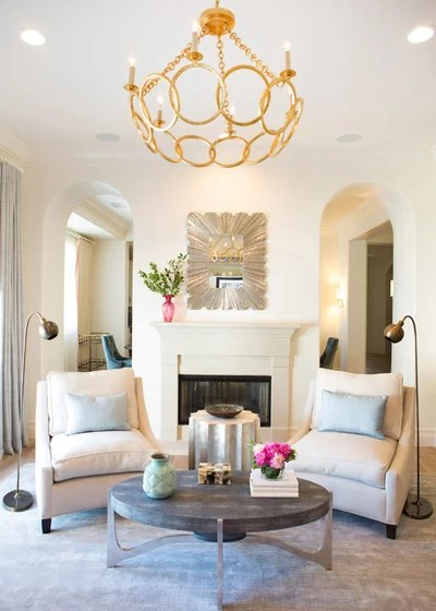 Transitional Living Room by Lori Dennis, ASID, LEED AP