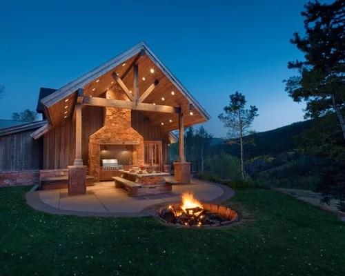Houzz   Outdoor Fire Pit On Unlevel Ground Design Ideas ... on Unlevel Backyard Ideas id=75568