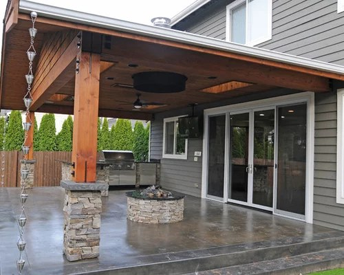Back Patio Design Ideas, Renovations & Photos with ... on Concrete Slab Backyard Ideas id=51551
