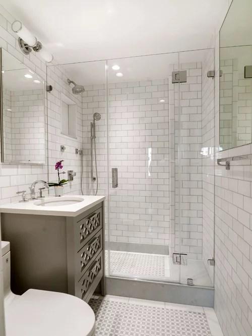 White Subway Tile Bathroom Ideas Houzz