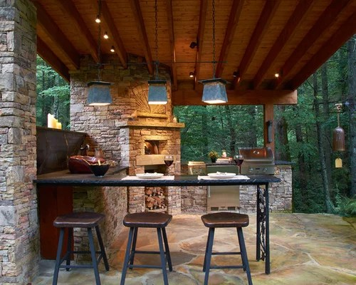 Best Rustic Patio Design Ideas & Remodel Pictures   Houzz on Houzz Backyard Patios  id=62133