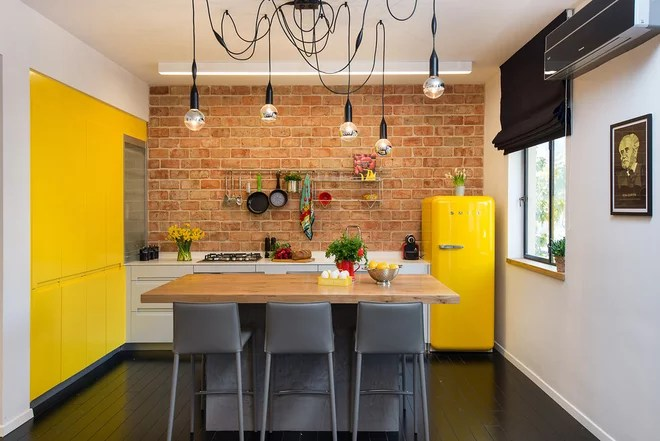 Eclectic Kitchen Small Boutique Apartment