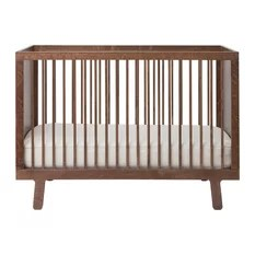 50 Most Popular Scandinavian Baby Cribs for 2018   Houzz Oeuf   Sparrow Crib Walnut   Cribs