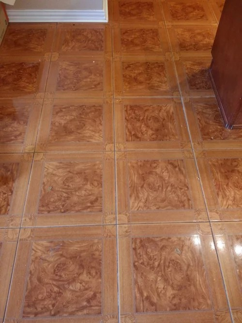 for orange tone tile floor