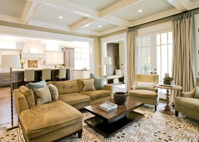 Traditional Family Room by Brian Watford Interiors