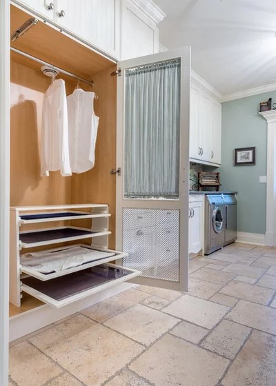 Transitional Laundry Room by Louis L'artisan