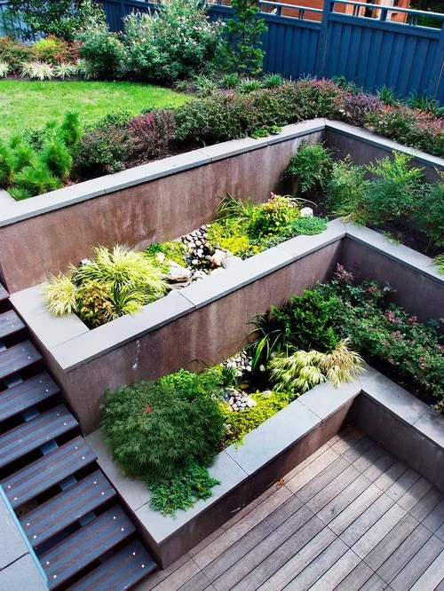 Tiered Garden Home Design Ideas, Pictures, Remodel and Decor on Tiered Yard Ideas  id=13926