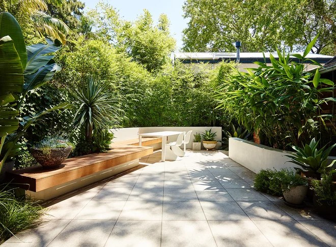 Contemporary Patio by Think Outside Gardens