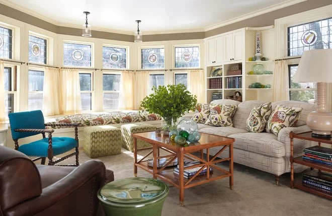Traditional Living Room by Charles R Myer & Partners, Ltd
