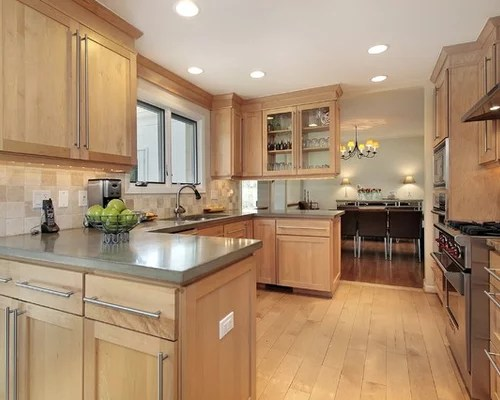 Natural Maple Cabinets Home Design Ideas, Pictures ... on Best Countertops For Maple Cabinets  id=95389