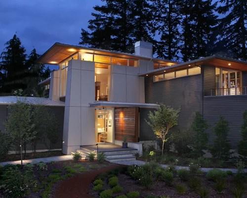 Contemporary Heathered Moss James Hardie Siding Home ... on Contemporary Siding Ideas  id=44433