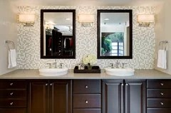 Height of bathroom wall sconces on Height Of Bathroom Sconce Lights id=18659