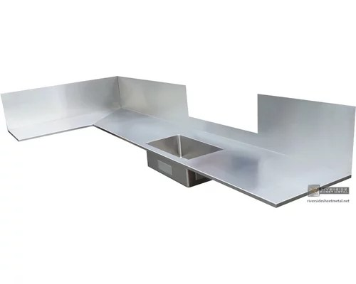 Stainless Steel Counter Tops #4 Finish