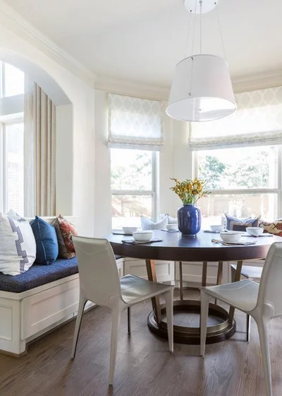 Transitional Dining Room by Marie Flanigan Interiors