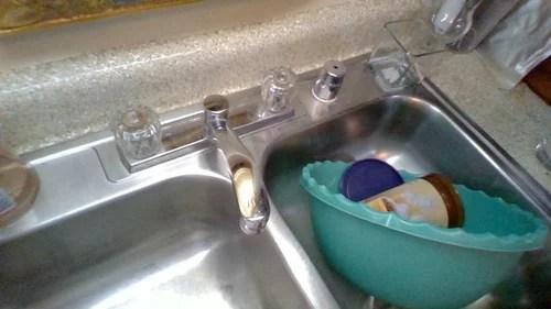 garden hose to an apt kitchen sink