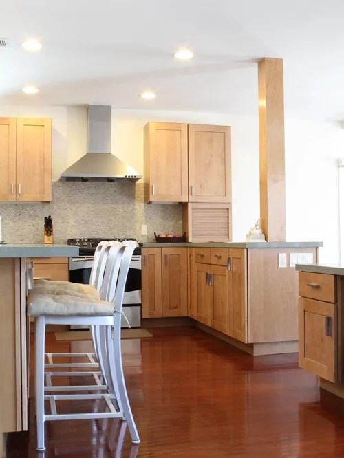 Natural Maple Shaker Cabinets Houzz